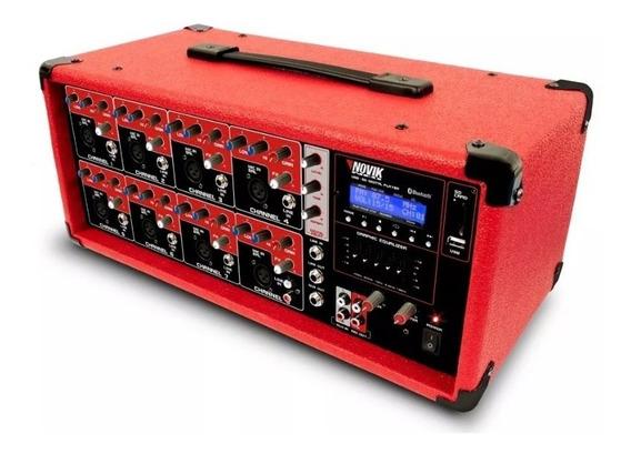 Mesa De Som Cabeçote Amplificado Novik Nvk-8500bt +ativo Nfe