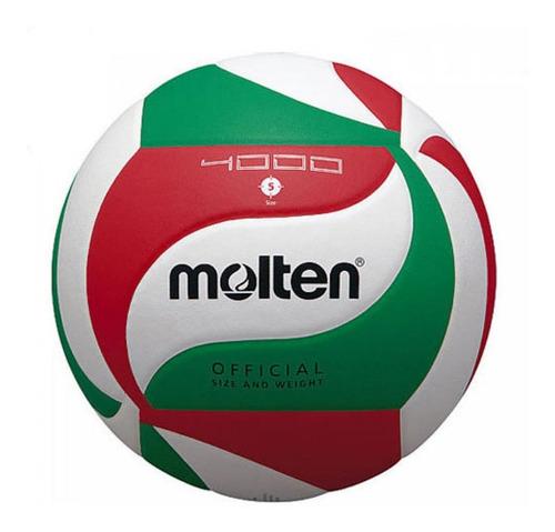 Balon Molten Voleibol V5m 4000 En Cuero Promocion Original