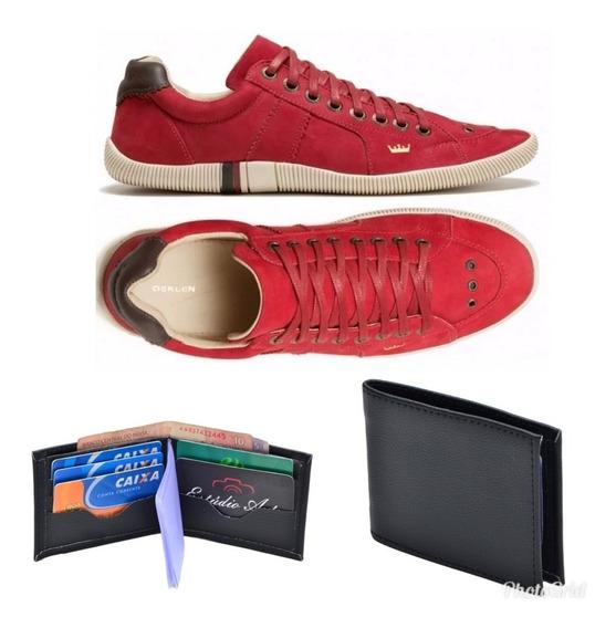 Sapato Sapatenis Osklen Couro Masculino/feminino+ Carteira
