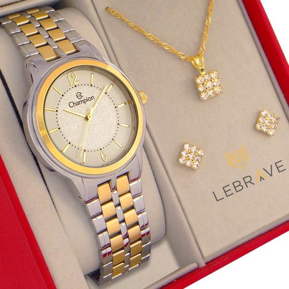 Relógio Champion Feminino Prata E Dourado Prova D