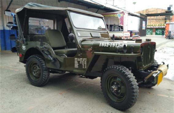 Willys Cj3 Motor 2.300 Verde 3 Puertas