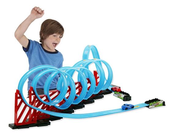Mega Pista De Carrinho Hot 8 2 Carrinhos Toys Infantil