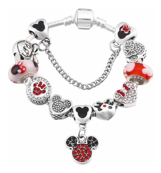 Pulsera Pandora Disney Mickey Mouse 10 Charms Envío Gratis