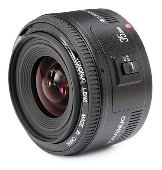 Lente Yongnuo Yn 35mm F2 Canon Ef Possui Motor De Foco
