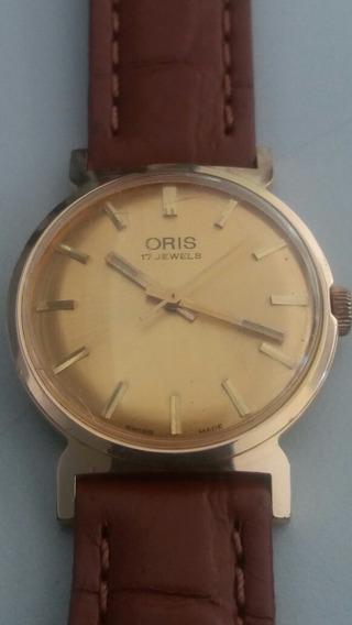 Raro Relógio Oris Swiss Made 17 Jewels A Corda