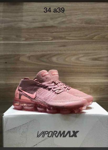 Sapato Nike Air Vapor Max Flyknit Rosa Femenino Lançamento