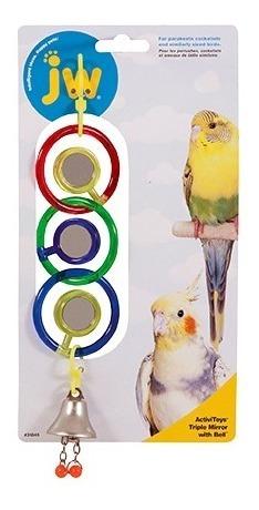 Imagen 1 de 1 de Jw Colgante Triple Espejo Activitoy P/ave Juguete Aves Diversion Y Entretenimiento