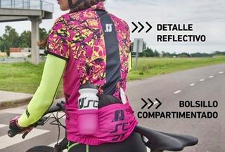 Remera Jersey Ciclismo Medio Cierre Scat Sports Mujer - Ciclos