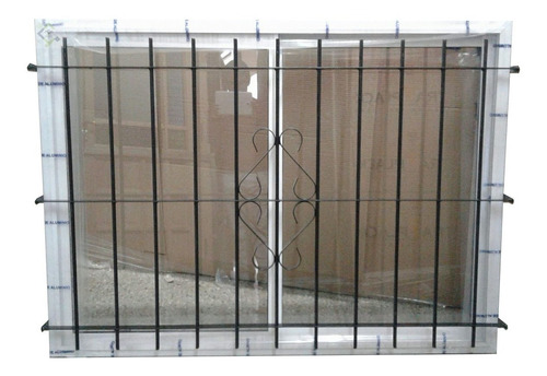 Ventana 150x110 Aluminio Blanco V/entero Reja Redondo 1/2
