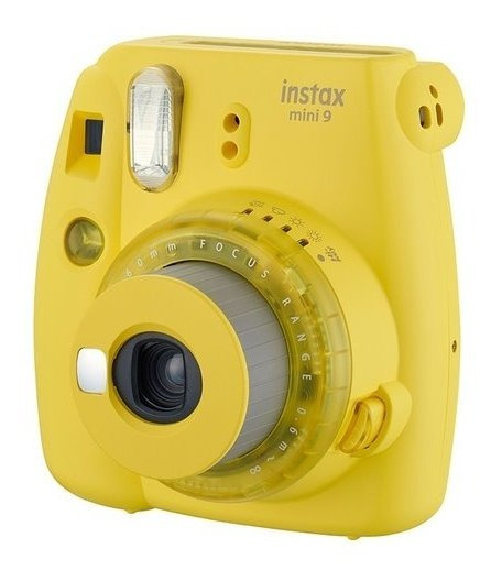 Câmera Instantânea Fuji Instax Mini 9 Amarela + 01 Filme 20p