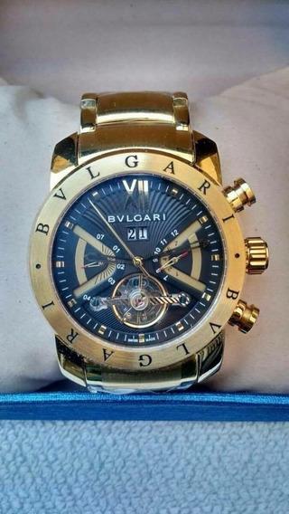 Relógio Bv Iron Man Dourado F/preto Original