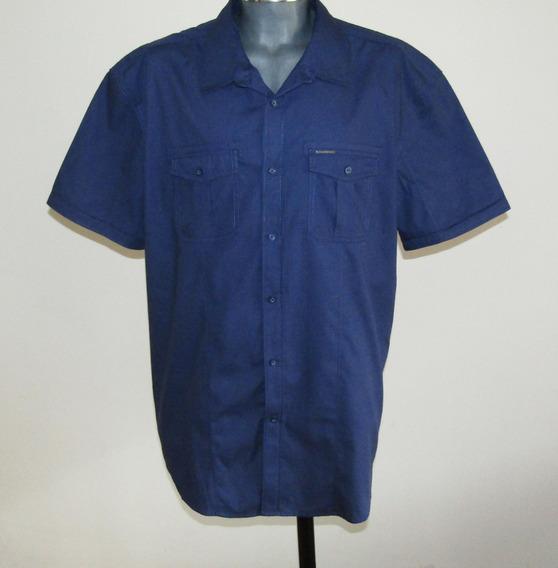 Ecko Unltd Camisa Azul Oscuro 100% Algodon Talla 3xl