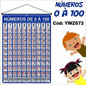 Banner Pedagógico Números 0 À 100 - 1m X 64cm - Ywz672