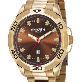 Relógio Mondaine Masculino 83413gpmvds1 Dourado + Nota