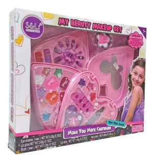 Maquillaje De Juguete Set De Belleza Corazon Para Nenas