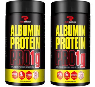 2x Potes Albumina Protein Pro 1g Concentrada - Red Séries