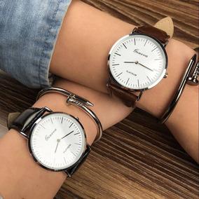 Relógio Quartz Social Masculino Geneva Gratis Pulseira Metal