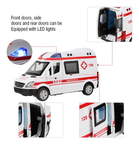 1:36 Veículo De Emergência, Carro De Brinquedo De Ambulância