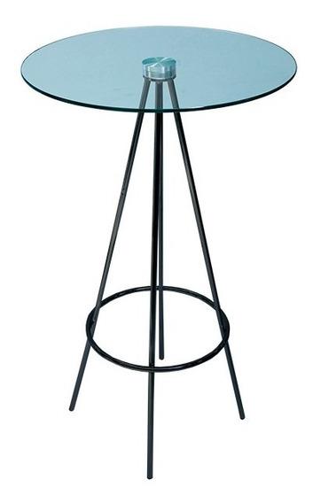 Interimobel: Mesa Alta Periquera De Cristal Diam 60cm