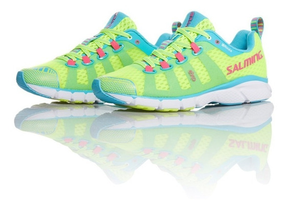 Zapatillas Mujer Salming Trail Running Enroute Fluo Yellow