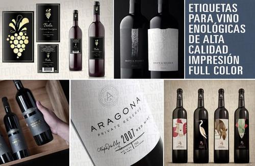 Etiquetas Para Frascos Botellas Vinos Enologicas Texturadas Troquelados  Especiales Formas Resistentes Stamping Diseños | Mercado Libre