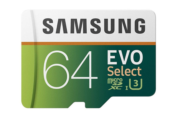 Samsung 64gb 100mb U3 Sd Card Evo Adaptador Classe 10 Novo