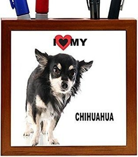 Rikki Knight I Love My Black Chihuahua Puppy Dog Design 5-in
