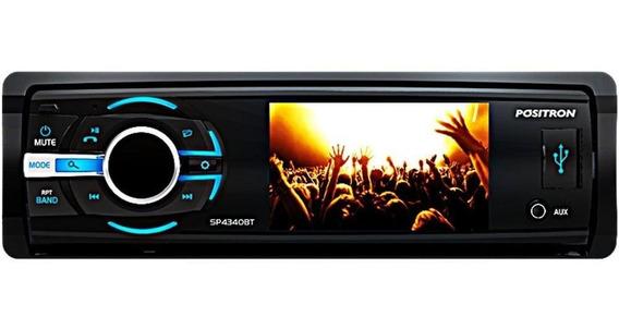 Auto Rádio Positron Sp4340bt Tela 3 Bluetooth Dvd Mp3 Usb