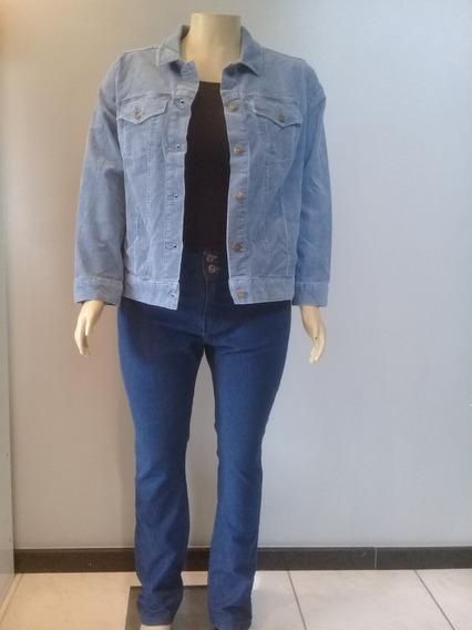 Blusa Frio Jaqueta Veludo Cotelê Corduroy Plus Size Algodão