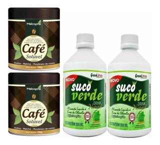 Kit 2un Suco Verde Vegano 2un Cafe Soluvel Matcha Melcoprol