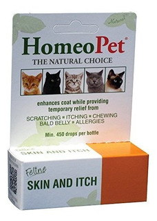 Homeopet Feline Skin &itch Natural Cat Escudo Enhancer
