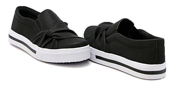 Slip On Dk Shoes Sola Baixa Com Listra Nó Lateral Moda