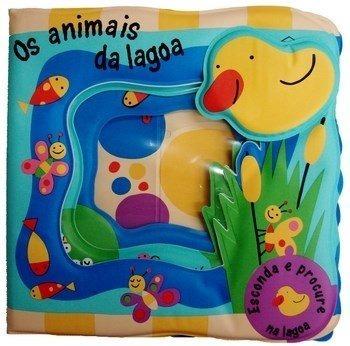 Livro De Banho Interativo Educativo - Os Animais Da Lagoa