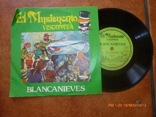 Vinilo Single Del Cuento Blancanieves (ac147