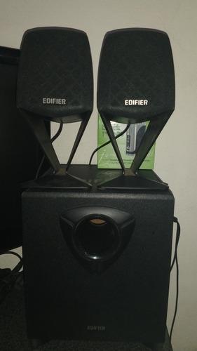 Parlantes + Subbufer 2.1 Edifer Impecable Liquido Yaaaaa!!!!