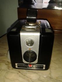 Câmera Kodak Brownie Hawkeye Antiga Em Baquelite (only Wood)