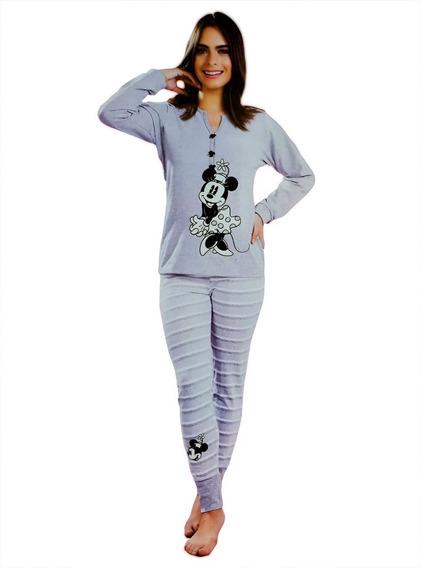 Pijama Paquete Pareja Ropa Dormir Mickey Y Minnie Mouse Gris