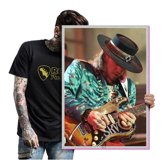 Poster Idolos Rock Stevie Ray Vaughan Quadro Art T. A2 15