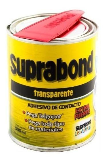 Cemento Contacto Pegamento Transparente Suprabond 1/2 Litro