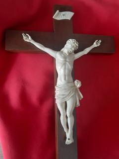 Cristo De Marfil Antiguo Europeo Antigüedades Arte Sacro