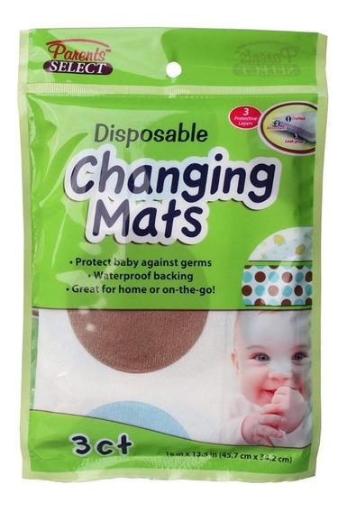 3 Almohadillas Desechables Para Bebés Changing Mats