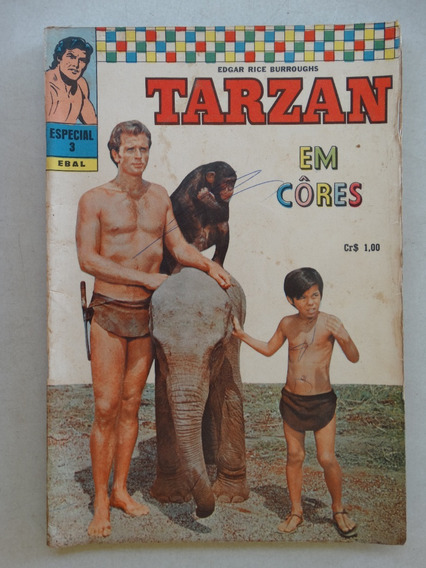 Tarzan Em Cores Nº 3! 1ª Série! Ebal Ago 1970!