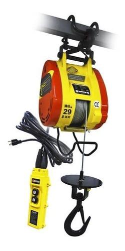 Polipasto Electrico Colgante Cable 30 Met Carga 300 Kg 220v
