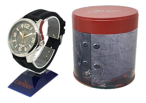 Relógio Masculino Condor Co2115ww/8c Pulseira Borracha Preta
