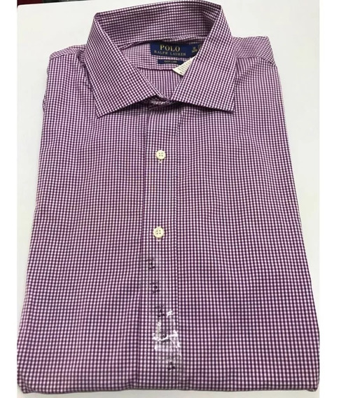 Polo Ralph Lauren Camisa Manga Larga 100% Orig Tall 18 34/35