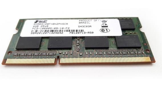 Memória 4gb Ddr3 Smart 1333mhz Pc3 10600s 2rx8 Notebook