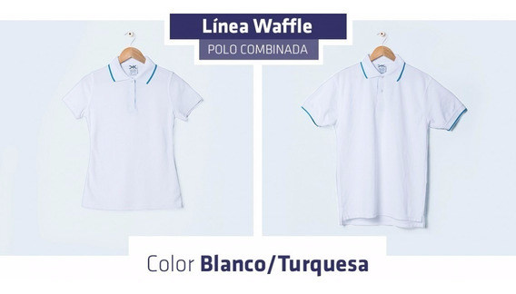 Playera Tipo Polo Combinada Blanca Y Colores