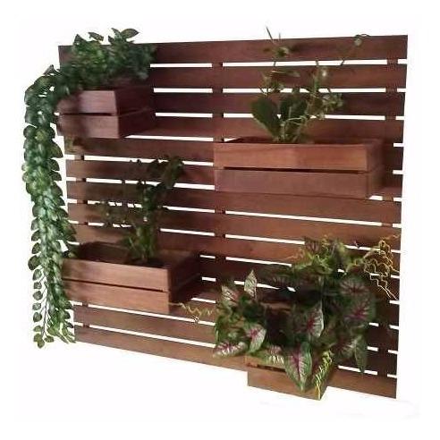 Jardim Vertical/horta Vertical/ Floreira Com 4 Cachepôs