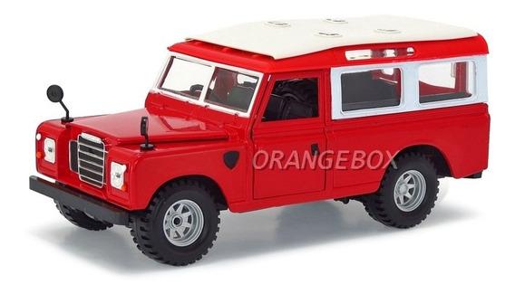 Land Rover Bburago 1:24 22063-vermelho