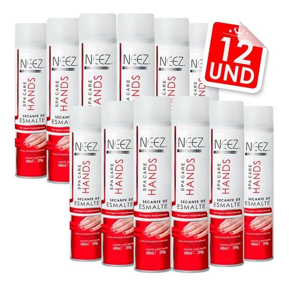 Kit 12 Spray Intantâneo Secante Para Esmalte 400ml Neez